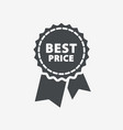 Best price guarantee label icon vector image