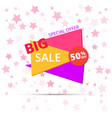 big sale poster banner big sale clearance vector image