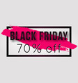 black friday sale poster with frame vector image