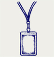 Blank badge with neckband vector | Price: 1 Credit (USD $1)