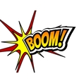 Boom Comic Speech Bubble Cartoon Pop art vector image vector image
