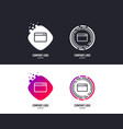 browser window icon internet page sign vector image