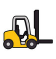 cart forklift isolated icon vector image