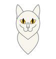 cat icon symbol isolated on white background vector image