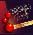 christmas party background with red balls vector image vector image