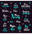 Christmas typography Set on dark vector image vector image