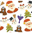 christmas wintertime holiday symbols and vector image