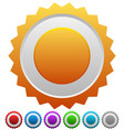 colorful badges with blank space vector image vector image