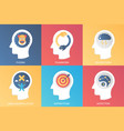 concept phobia teamwork brainstorm mind vector image vector image