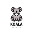 cute koala cartoon logo icon vector image
