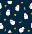 cute little sheep seamless pattern background vector image