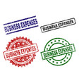 damaged textured business expenses stamp seals vector image