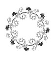 decorative empty round floral frame vector image vector image
