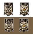 eagles air warrriors army shields set design vector image