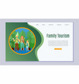 family vacation tourism father mother and son vector image vector image