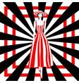 fashion model black and white stripes vector image