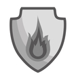 fire flame icon image vector image vector image