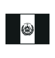 flag afghanistan on white background vector image
