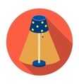 Floor lamp icon in flat style isolated on white vector image vector image