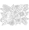 Floral doodle coloring page