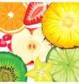 Fruit mix vector image vector image
