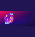global transportation system isometric 3d banner vector image