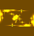 golden background with shining light metal stars vector image vector image