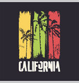 graphic t-shirt design on topic california vector image vector image