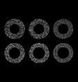 halftone circular dotted frames set circle dots vector image