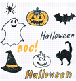 Halloween background with doodle vector image vector image