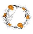 Halloween wreath vector image vector image