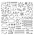 hand drawn arrows set on white background doodle vector image vector image