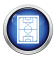Icon of football field vector image vector image