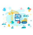 interface construction and mobile application vector image vector image