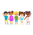 kids standing in a row vector image