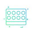 lab science icon design vector image