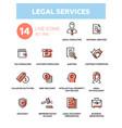 legal services - line design icons set vector image vector image