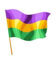 mardi gras carnival flag vector image