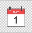 may 1 calendar icon international womens day in vector image