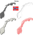 Norway outline map set vector image vector image
