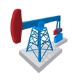 Oil pump cartoon icon vector image vector image