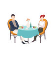 pair of young man and woman dressed in stylish vector image