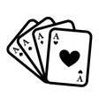 poker card isolated icon design vector image vector image