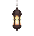 realistic ramadan lantern vector image