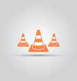 road cone isolated colored icon vector image vector image