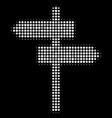 road pointer halftone icon vector image vector image