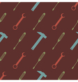 seamless background with tools vector image