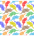 seamless pattern with colored armadillos vector image vector image