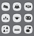 set of 9 editable job icons includes symbols such vector image vector image