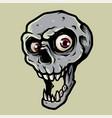 skull head vector image vector image
